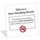Non-Smoking Room With $100 Smoking Cleaning Fee Easel. (50/Pkg)