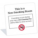 Non-Smoking Room With $75 Smoking Cleaning Fee Easel (50 Pkg)