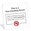 Non-Smoking Room With $150 Smoking Cleaning Fee Easel. (50/Pkg)